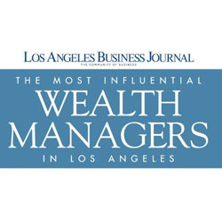 LA Business Journal Most Influential Wealth Advisors 2018